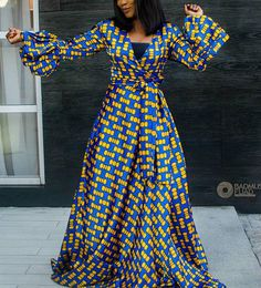 Here are some lovely ankara maxi gowns that are really worth buying this season. They come in different styles and designs just to make your fashion look stylish. Ankara Maxi Dress, African Maxi Dresses, Maxi Gowns, African Inspired Fashion, African Print Fashion, Africa Fashion, African Wear, African Attire, African Women