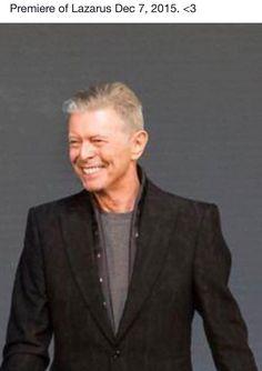 David Bowie - Premiere of Lazarus Dec 7, 2015