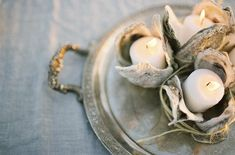 Oyster Shell Votives DIY