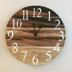 A personal favorite from my Etsy shop https://www.etsy.com/listing/495851395/rustic-poplar-pallet-wood-clock-16