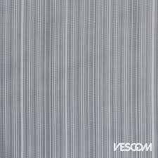 Vescom Zebra Sheer fabric in slate grey