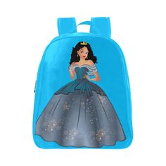 Beautiful Brown Disney Inspired Princess School Backpack (Model 1601)(Small)