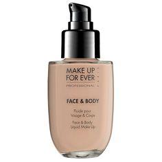 MAKE UP FOR EVER Face & Body Liquid Makeup #Sephora #SonyElectronics #BeautyCaptured