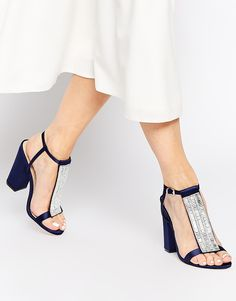 Buy ASOS HOLIDAYS Embellished Heeled Sandals at ASOS. Get the latest trends with ASOS now. Sock Shoes, Shoes Heels Boots, New Shoes, Shoes Sandals, Pretty Shoes, Beautiful Shoes, Cute Shoes, Creative Shoes, Unique Shoes
