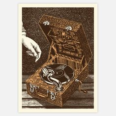 Phonograph Art Print 16x22 now featured on Fab. ROCK ROOM!