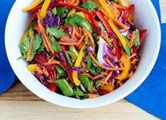Eat the rainbow! This Rainbow Slaw is not only colorful, it's fresh and delicious. Adults and kids all love a colorful salad like this one.