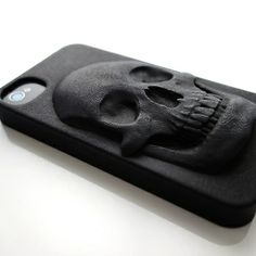 "3D Printed cases: Skull from the art series of Hugo Arcier called ""Degeneration"", printed in layers Vcool"