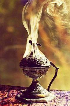 Burning Resin Incense