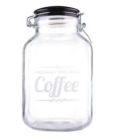 Another great find on #zulily! 'Coffee' Glass Jar #zulilyfinds
