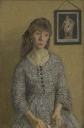 Chloë Boughton-Leigh Gwen John (Welsh, Oil paint on canvas. The portrait shown here is of a Paris friend, Chloë Boughton-Leigh. The subdued colouring, short foreground and. Gwen John, Mary John, Camille Claudel, Rodin, Matisse, Figure Painting, Painting & Drawing, London Art, Art Uk