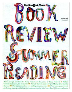 "Ed Fella // The New York Times // ""Book Review Summer Reading"""