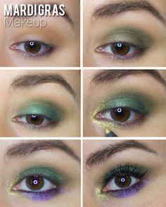 Mardi Gras Makeup Look