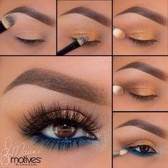 Makeup Geek Kaleidoscope Smokey Eye Makeup Tutorial step by step - . - Makeup Geek Kaleidoscope Smokey Eye Makeup Tutorial step by step - Makeup Eye Looks, Eye Makeup Steps, Smokey Eye Makeup Tutorial, Blue Eye Makeup, Love Makeup, Skin Makeup, Makeup Inspo, Eyeshadow Makeup, Beauty Makeup