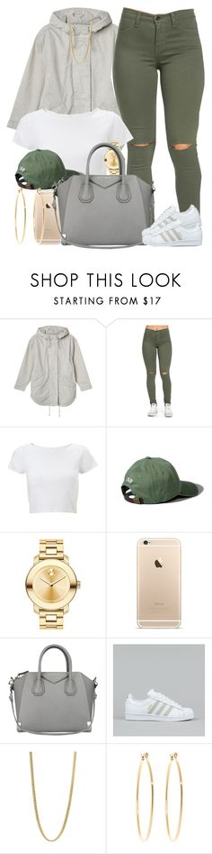 """"" by livelifefreelyy ❤ liked on Polyvore featuring Monki, Lipsy, Abercrombie & Fitch, Movado, Givenchy, adidas, Marc by Marc Jacobs, Brooks Brothers, women's clothing and women's fashion"