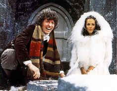 Tom Baker (the Fourth Doctor) and Mary Tamm (Romana I) in The Ribos Operation.