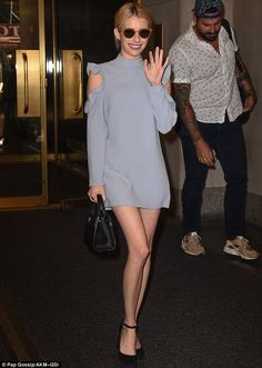 Emma Roberts waves as she steps out after Evan Peters 'reconciliation'