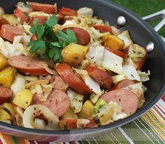 MILWAUKEE -- The Cooking Mom joins WakeUp with some quick and easy recipes. Recipe: Weeknight Jambalaya Recipe: Sausage, Potato and Cabbage Skillet… Cabbage Sausage Potato, Sausage And Potatoes Skillet, Kielbasa And Cabbage, Cabbage And Potatoes, One Pot Meals, Easy Meals, Pork Recipes, Cooking Recipes, Jambalaya Recipe