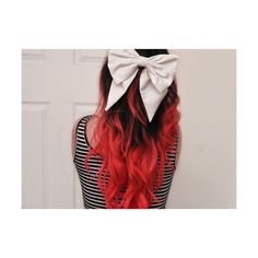 ombre red hair Decalz - Crystal Fong | Lockerz featuring polyvore, hair and hairstyles