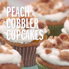 Just peachy: With a crunchy crumble topping and juicy peaches, these cupcakes give you a little taste of Georgia kindness--no matter where you are.
