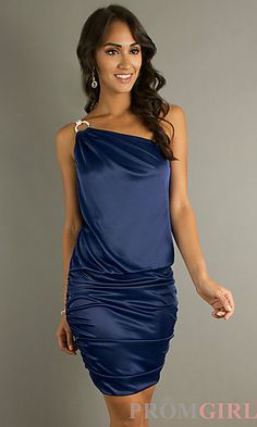 My dress from an upcoming wedding!! Morgan Elegant Short One Shoulder Dress at PromGirl.com