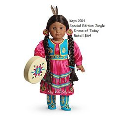 American Girl Doll Brand Kaya Special Edition Jingle dress of today