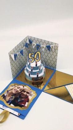 Unique Birthday Cards, Bff Birthday Gift, Diy Birthday Gifts For Friends, Diy Crafts Hacks, Diy Crafts For Gifts, Diy Best Friend Gifts, Cool Paper Crafts, Diy Gift Box, Diy Cards