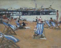 Ken Howard artist, paintings and art at the Red Rag British Art Gallery
