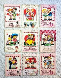 Patriotic Kids~USA~9 Pocket Pen Pal Cards only~No Protector~#71~judysjemscrafts