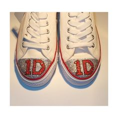 1D, One Direction Crystal Converse STYLE pump, Made to order ❤ liked on Polyvore