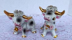 Vintage Bull and Cow Salt and Pepper by LoriannsVarietyShop, $15.00