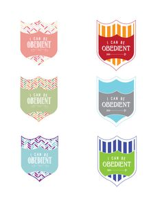 Obedient Badges Printable |