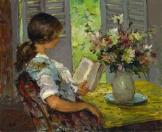 View Liseuse dans l'atelier de Cannes (Circa By Marcel Dyf; oil on canvas; Access more artwork lots and estimated & realized auction prices on MutualArt. Reading Art, Woman Reading, Marcel, Illustrations, Illustration Art, People Reading, Children Reading, Image Avatar, Post Impressionism