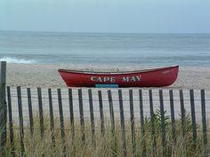 Toute seule sur une des plus belles plages d'Amérique du Nord :Cape May, NJ