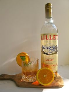 Lillet - over crushed ice & an orange slice the perfect summer cocktail. Never had Lillet?  Wait no longer!  Fiery & mellow all in one sip...