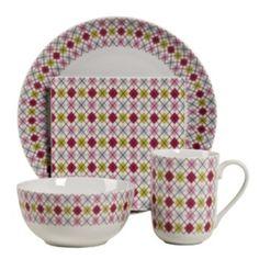 Tabletops+Gallery+Argyle+16-pc.+Dinnerware+Set
