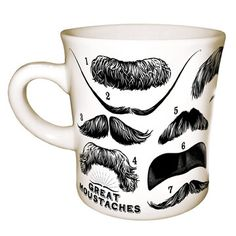 Moustaches Mug now featured on Fab.