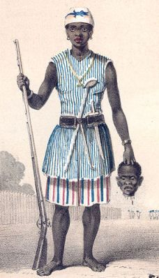 The DAHOMEY AMAZONS are the only documented all-female front-line combat arms military unit in modern history. Tough, uber-intense asskicking women single-mindedly devoted to hardening themselves into ruthless instruments of battlefield destruction, these machete-wielding, musket-slinging lady terminators were rightly-feared throughout Western Africa for over250 years, not only for their fanatical devotion to battle, but for their utter refusal to back down or retreat from any fight. (clickthru)