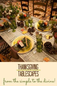 Here are 17 different Thanksgiving tablescapes which have been separated into 4 categories: simple, classic, creative, and glamorous. Click through for Thanksgiving inspiration.