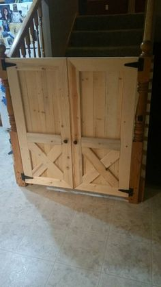 Remodelaholic Friday Favorites: Black Paneled Doors And . Rustic Barn Door Baby Gate Or Pet Gate Ideas For The . Barn Door Baby Gate Clever And Stylish DIY Home . Home and furniture ideas is here Barn Door Baby Gate, Diy Baby Gate, Baby Gates, Dog Gates, Baby Barn, Up House, Pent House, Barn Wood, Home Projects