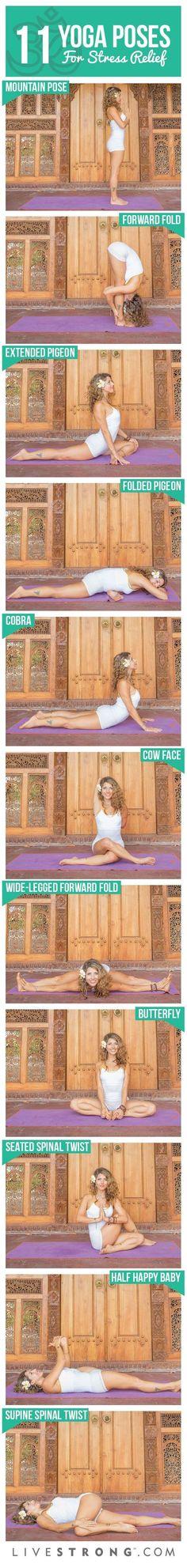 ૐ YOGA ૐ 11 Posturas de Yoga para Eliminar Tensión A partir de Su Día