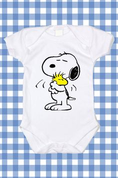 NEW Custom Snoopy Screen Printed Tshirt Peanuts One-Piece Newborn Custom T-Shirt Baby boy Bodysuit Creeper Romper Snapsuit ALL SIZES