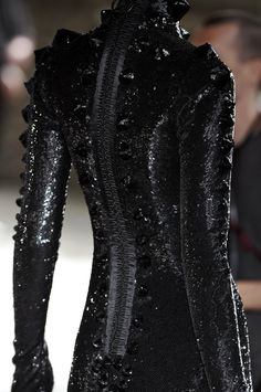 sequin and spiky goth dress