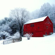 Red barn and snow...beautiful...