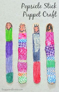 Popsicle Stick Puppet Craft for Kids ~ BuggyandBuddy.com