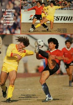 Independiente 1 Liverpool 0 in Dec 1984 in Tokyo. Action from the Intercontinental Cup.