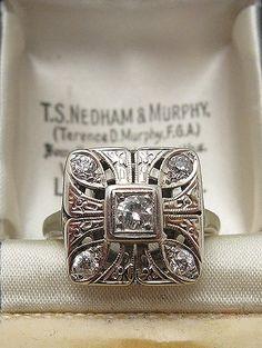 1920s Art Deco Diamond Ring
