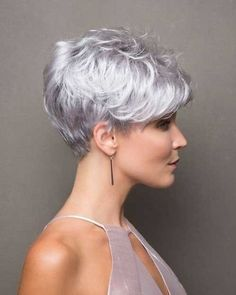Icy Short Pixie Cut - 60 Cute Short Pixie Haircuts – Femininity and Practicality - The Trending Hairstyle Haircut For Older Women, Short Hair Cuts For Women, Short Hairstyles For Women, Short Wedge Hairstyles, Simple Hairstyles, Straight Hairstyles, Short Pixie Haircuts, Pixie Hairstyles, Pixie Bob