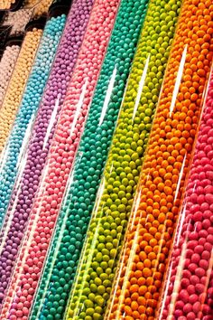 color | rainbow candy dispensers
