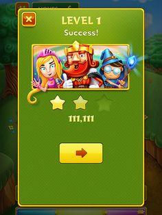 Mobile game design level complete