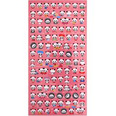 Kamio Stickers: Panda Activities